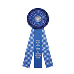 Rosette 105 blue and blue gingham.