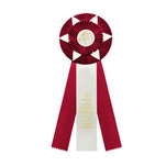 Rosette 582 red and eggshell.
