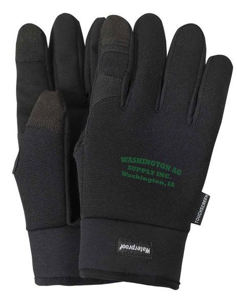 Touchscreen waterproof winter lined mechanics gloves.