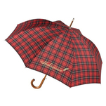 Totes automatic stick umbrella plaid.