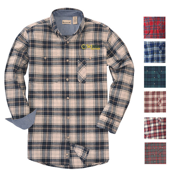 Backpacker yarn dyed flannel shirt.
