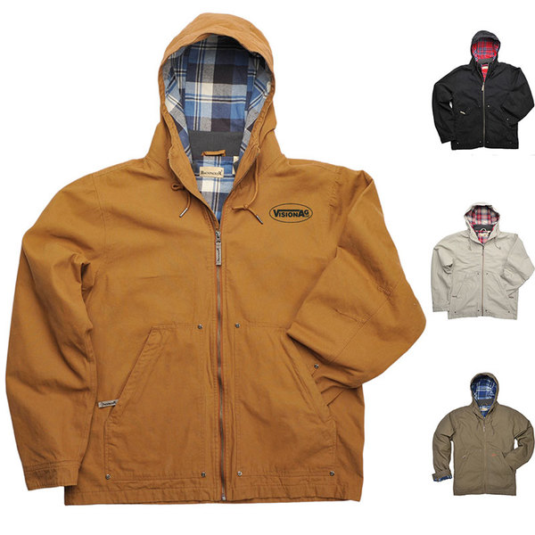 Backpacker hooded navigator jacket.