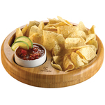 Bamboo snack bowl set.