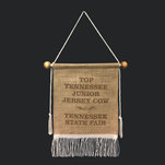9 by 12 burlap banner.