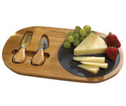 Bamboo and slate cheese set.