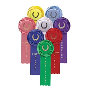 1 Streamer Stock Rosettes