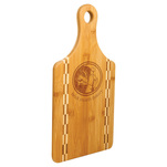 Paddle bamboo cutting board.