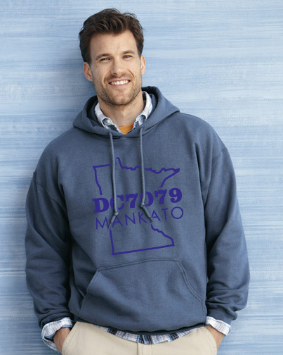 Standard hooded sweatshirt.