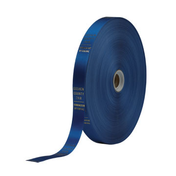 One inch ribbon on a roll.