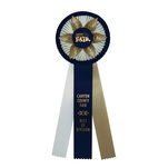 Rosette 9200 white, navy, and irish gold.