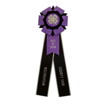 Rosette 2589 purple and black silver edge.