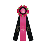 Rosette 2689 neon fuchsia, black, and neon green.