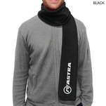 Black urban fleece scarf.